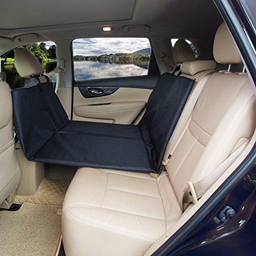 AMOCHIEN Back Seat Extender for Dogs - Backseat Pet Bridge, Dog Hammock Covers Entire Back Seat, Rear Pet Foam Platform Divider Barrier Water Resistant , Ideal for Trucks, SUVs, and Full Sized Sedans