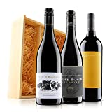 Incredible Red Wine Trio in Wooden Gift Box - 3 Bottles (