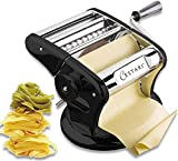 Ultimate Pasta Machine - Professional Pasta Maker - Unique Patented Suction Base for No-Slip Use of Stainless Steel Pasta Roller Machine - 150 mm - Noodle Maker and Dough Roller by Cestari