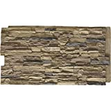 Ekena Millwork PNU24X48CNCO Canyon Ridge Stacked Stone Stonewall Faux Stone Siding Panel 48'W x 24'H x 1 1/4'D Colfax 1 EA