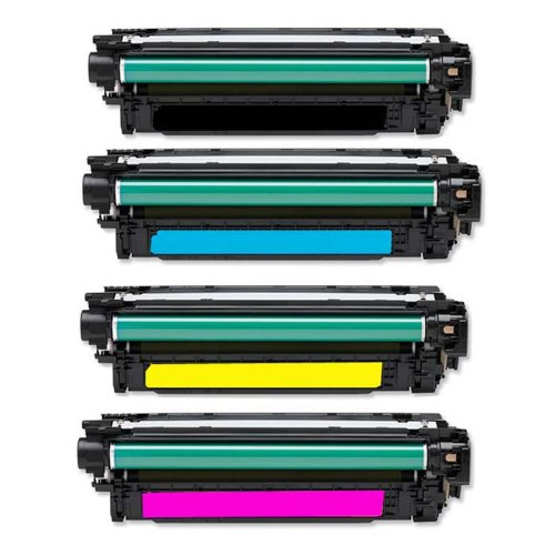 4X Eurotone Toner XXL Set remanufactured für HP LJ Enterprise 500 Color M551 N DN + M551N M551DN Laserjet – Alternative ersetzt CE400A CE400X Black, CE401A Cyan, CE402A Yellow, CE403A Magenta