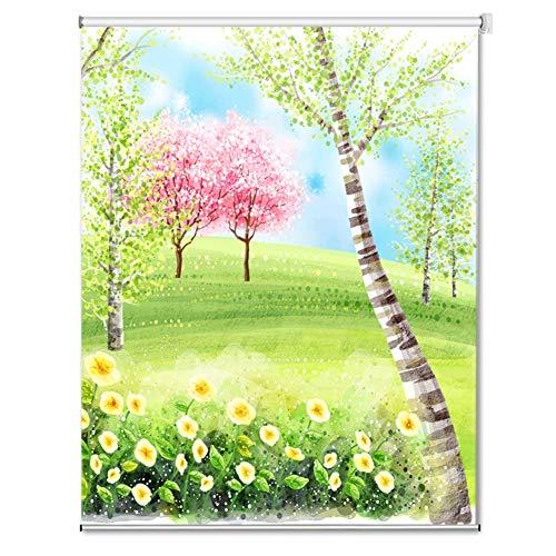 Tende a rullo oscuramento in Diverse Dimensioni E Fantasia Floreale - tonalità della Finestra ritagliabili - Larghezza 60cm / 80cm / 100cm / 120cm / 140cm (Size : 120x240cm)
