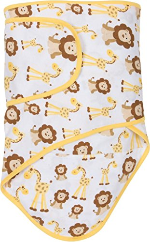 Miracle Blanket Swaddle Wrap for Newborn Infant Baby, Giraffes & Lions