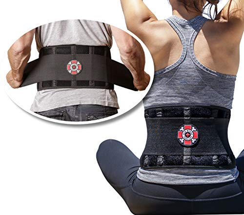 Old Bones Therapy Lower Back Brace with Adjustable Straps | Lumbar Support for Immediate Relief (Back Brace, L/XL, Fits 34-43 Inches)