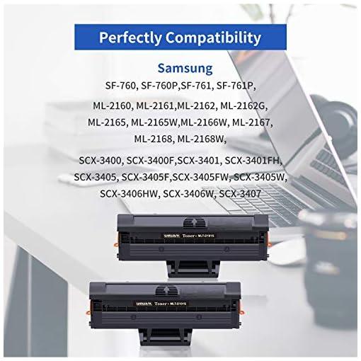 Wewant Toner D101S Reemplazo para Samsung MLT-D101S Cartucho de Tóner Compatible con Samsung ML-2160 ML-2161 ML-2162 ML… 2