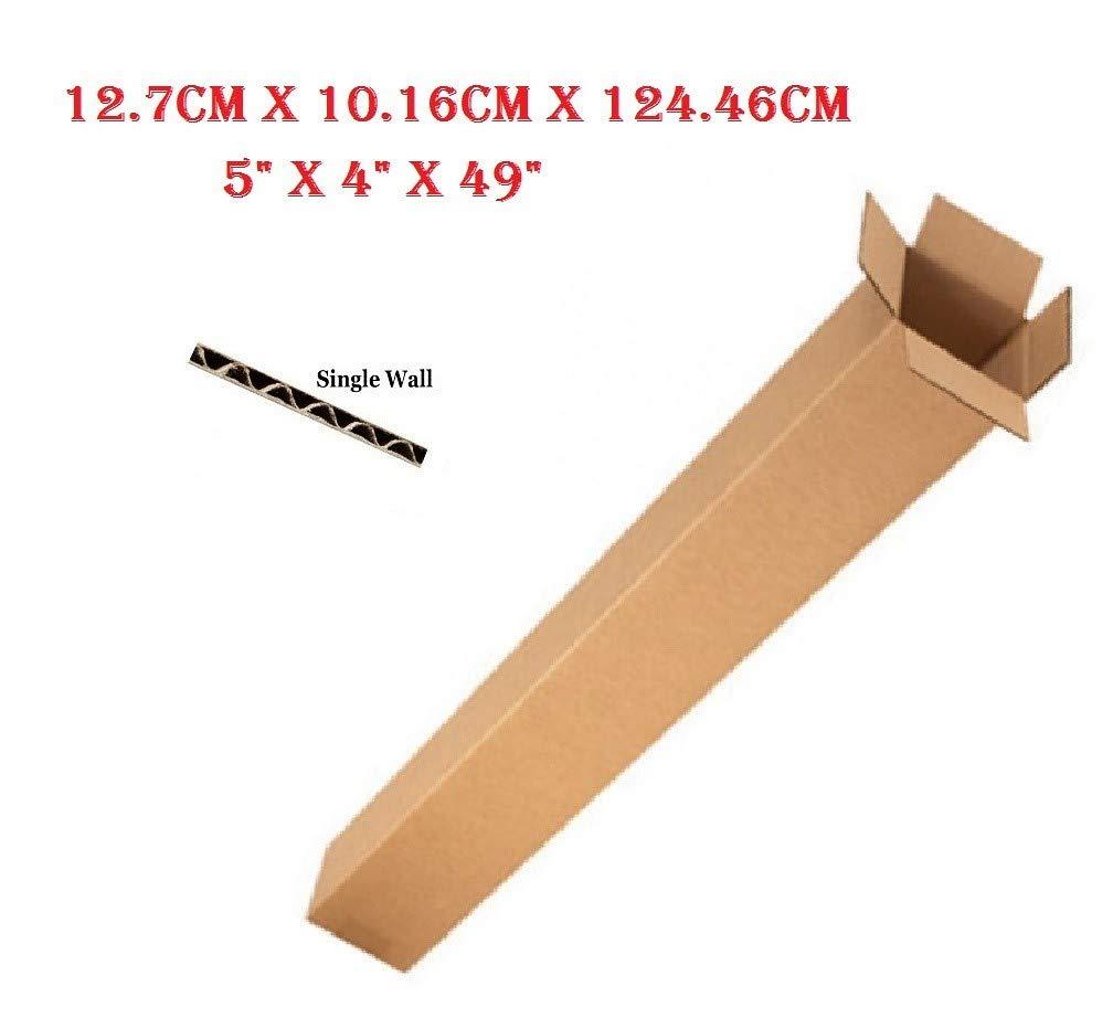40 cajas de cartón para embalaje de palos de golf de una sola pared de 12,7 x 10,2 x 129,5 cm: Amazon.es: Oficina y papelería