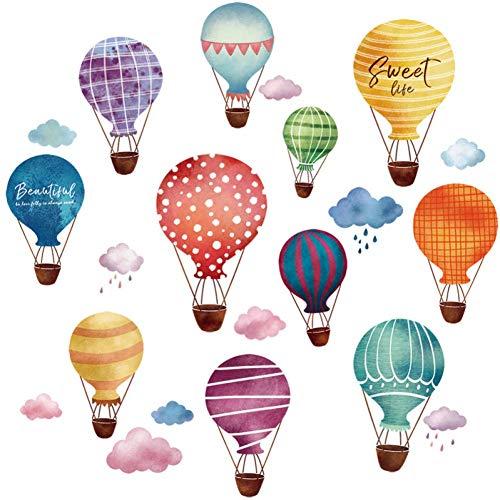 GWFVA Hot Air Ballonnen Cartoon Muursticker Zelfklevende Slaapkamer Sticker Kind Wandbilder van de kamer