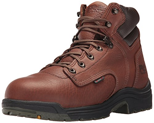 "Timberland PRO Men's Titan 6"" Safety Toe Work Boot,Brown/Brown,13 W"