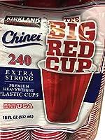 カークランド(Kirkland) 使い捨てカップ マルチ 532ml 240個入 レッドカップ 532ml 240個入 プラスティックカップ 1193444