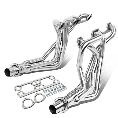 For 72-91 Dodge D/W-Series Ramcharger Pair 4-1 Long Tube Exhaust Header Manifold w/Collector