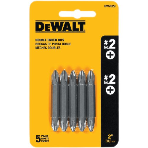 DEWALT DW2029 #2 Phillips Double Ended Screwdriver Bit (5-Pack)