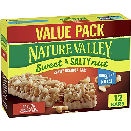 Nature Valley Sweet and Salty Nut Granola Bars, Cashew, 12 ct, 14.8 oz