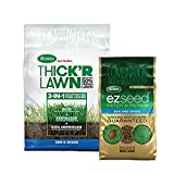 Turf Builder Thick'R Lawn Sun and Shade 40 lb. Grass Seed and EZ Seed 10 lb. Patch & Repair Grass Seed Bundle