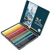 Juego de lápices de colores, herramientas de grafiti de dibujo de núcleo suave, lápices de colores profesionales solubles en agua, regalo, artista principiante para adultos