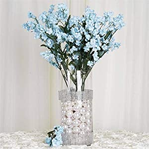 Efavormart 12 Bushes Baby Breath Artificial Filler Flowers for Wedding Party Events Decor