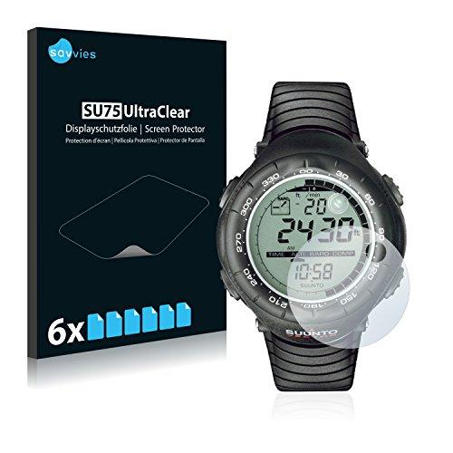 Savvies 6X Schutzfolie kompatibel mit Suunto Vector Black Bildschirmschutz-Folie Ultra-transparent