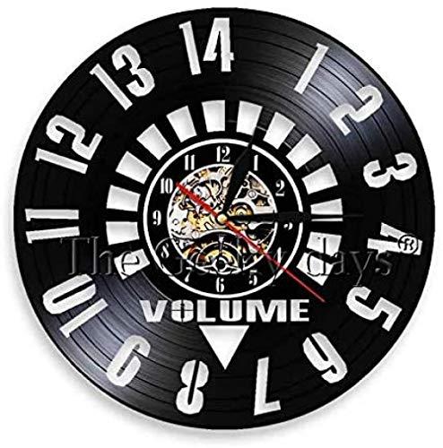 Volumen Reloj de Vinilo Reloj de Pared Amplificador de Arte de Pared Hecho a Mano Regalo de cumpleaños Reloj de Volumen Música Arte Reloj Decoración del hogar
