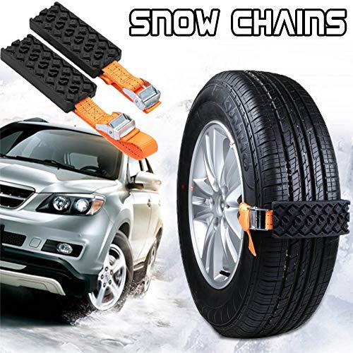 Dream-cool Anti-Rutsch-Kette Auto Schneeketten Universal Gummi Nylon Schnee Schlamm Kette Limousine Auto Reifen Notfall Anti-Rutsch-Gurt 2 Stück, a