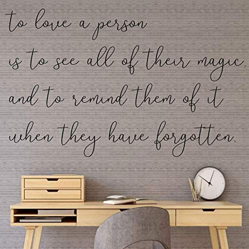 Wall Decal for Loved ones - 'To Love a Person' - Vinyl Sticker for Master Bedroom, Guest Room, Entryway or Living Room - Perfect Gift for Friends or Family