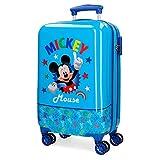 Disney Mickey Stars Maleta de cabina Azul 37x55x20 cms Rígida ABS Cierre combinación 32L 2,5Kgs 4 ruedas dobles Equipaje de Mano
