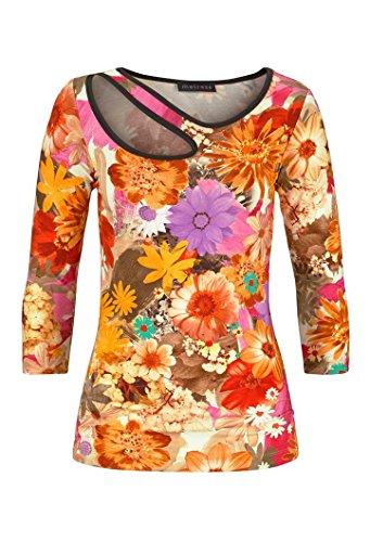 Melrose Damen-Shirt Druckshirt Mehrfarbig Größe 36