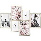 BLCKART Infinity Premium Rose Love Bilder Set Stilvolle