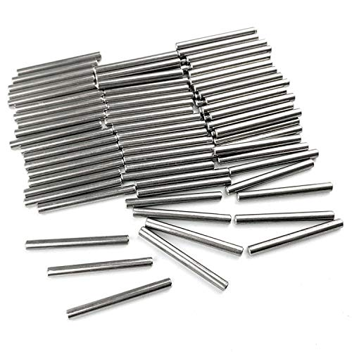 80Pcs 4mm x 40mm Dowel Pin 304 Stainless Steel Wood Bunk Bed Dowel Pins Shelves Support Pegs Pin Fasten