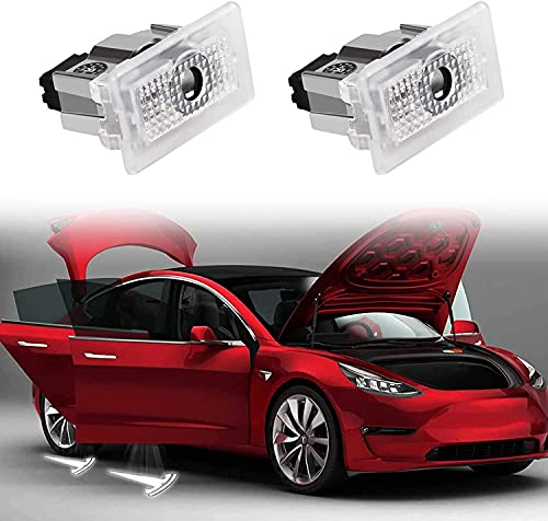 Tesla Model 3 Model Y Model X Model S Pasos Ultrabrillantes Charcos Led Luces De Puerta Proyector De Logotipo De Coche Luz De Bienvenida 2016-2021-2 Piezas