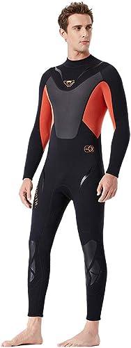 DIMPLEYA Combinaison De Plongée sous-Marine Hommes 3Mm Combinaison De Plongée Néoprène Combinaison De Natation Surf Triathlon Combinaison Humide Maillot De Bain Combinaison Complète
