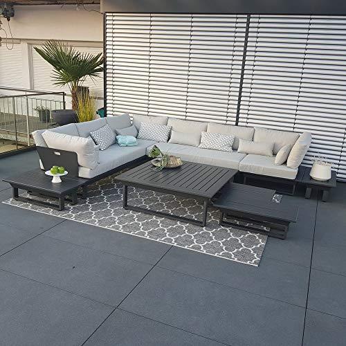 ICM Alu Gartenlounge Set Menton Aluminium anthrazit Gartenmöbel Loungegruppe Terrassenmöbel Outdoormöbel Loungeset Outdoorlounge Gartenmöbelset