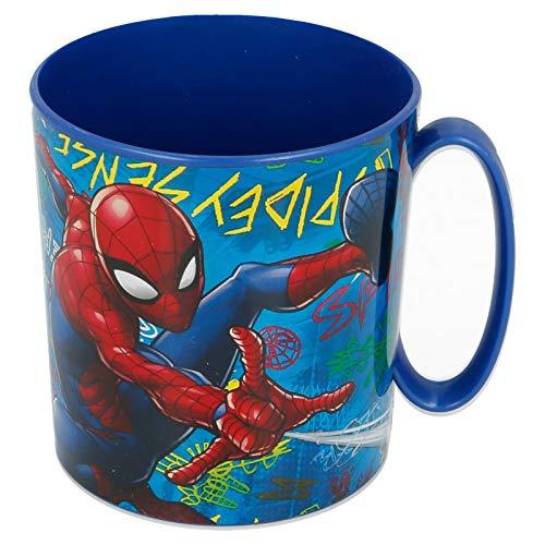 2656; Tasse à micro-ondes Spiderman; Capacité de 350 ml; produit en plastique; Pas de BPA