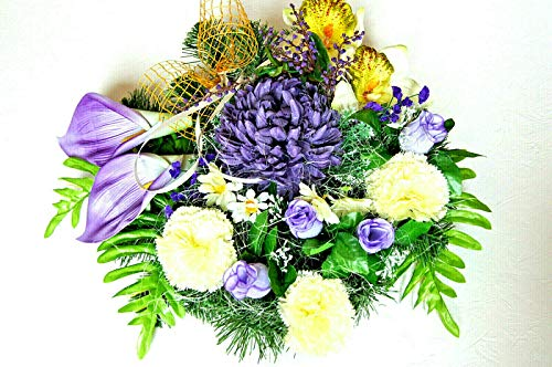 tatjana-land-deko Grabgesteck Totensonntag Grabschmuck Gesteck Allerheiligen Gedenken Frühling LU16