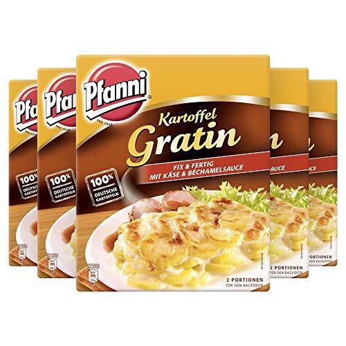 """Pfanni Kartoffelfertiggericht Kartoffel Gratin """"Fix & Fertig"""" für die schnelle Zubereitung 100% deutsche Kartoffeln, 5er Pack (5 x 400 g)"""