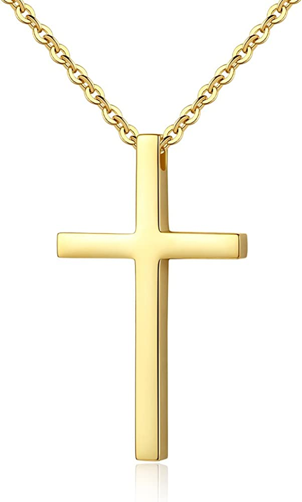 67% OFF of fixed price Reve Simple Stainless Steel Cross Chain for Men Pendant Necklace Year-end annual account