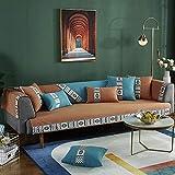 Suuki Protector para Sofás,1/2/3/4 Seater Sofa Saver,Non-Slip Striped Couch Slipcover,Universal Fabric Sofa Cushion Resistant Pet -Yellow_70*150cm-Vendido por Pieza