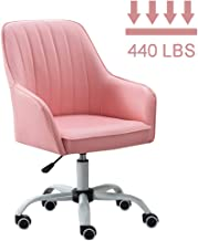 JXYu - Swivel Chairs Ergonomic Office Chair, Artificial Leather Pink Chair, Rotatable Computer Chair for Study or Work, Desk Chair with Casters and Adjustable Height