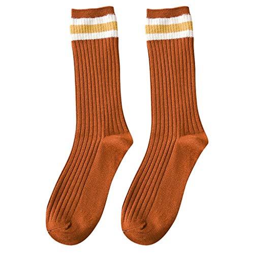 Hffan Damen Crew Socks Socken mit Streifen Baumwolle