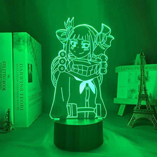 DUYAO00 Muttertagsgeschenke My Hero Academia Himiko Toga Bedroom Decoration Gift Night Light Anime 3d Light Himiko Toga My Hero Academia geschenke für frauen
