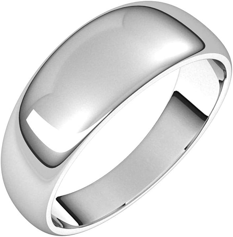 Solid Palladium 7mm Now on sale Tapered Mesa Mall Wedding Band Plain Trad Ring Classic