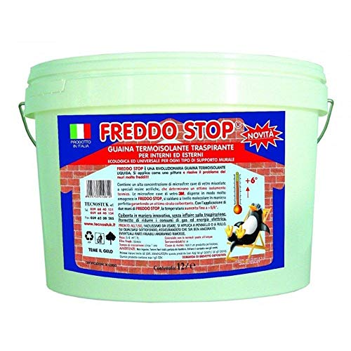 Tecnostuk Freddo Stop guaina termoisolante traspirante per interno ed esterno lt.5 per recuperare 5/6 ° in casa
