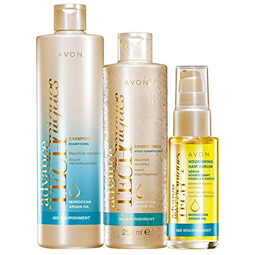 Avon Advance techniques Arganöl-Set Haarshampoo/Spülung/Serum