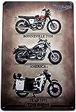HONGXIN Triumph - Cartel de metal para motocicleta, estilo vintage, para decoración del hogar, bar, bar, garaje, regalos, cerveza, huevos, café, granja, jardín