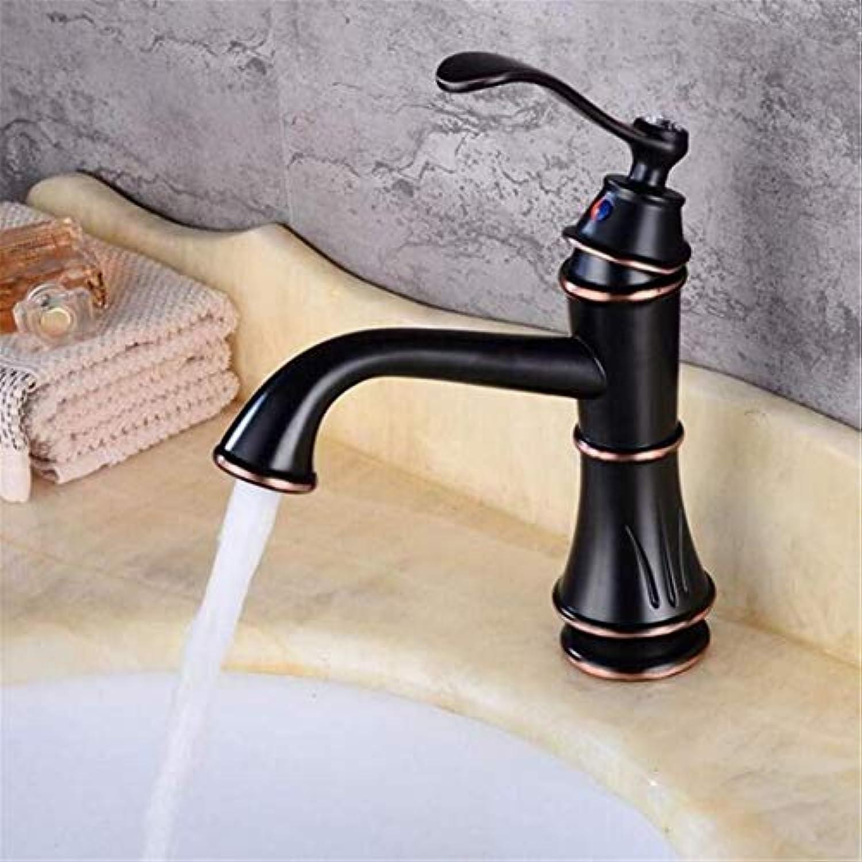 Wasserhahn Moderner Luxus-Wasserhahnmischerbecken Wasserhahn Schwarz Messing Waschbecken Wasserhahn Einhand Loch Loch Waschen Heien Kalten Mischbatterie