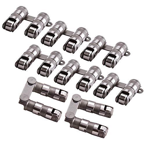 maXpeedingrods for Chevy 350 Roller Lifters, Hydraulic Roller Lifters for GM Chevy Chevrolet SBC Small Block V8 350 265 283 327 302 307 400 Camshaft Kit