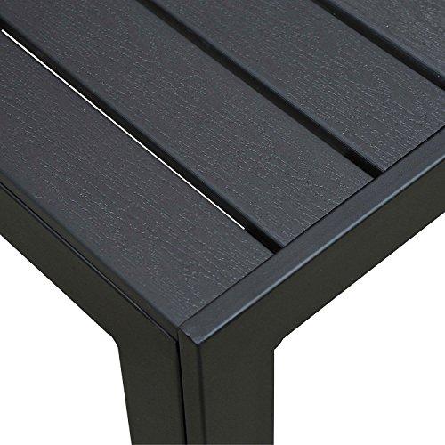 Outsunny Gartentisch, Holz, schwarz, 190 x 84.5 x 72 cm, 01-0703 - 5