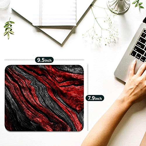 Mouse pad,Red Gray Marble Pattern Waterproof Anime Gaming Gift Mouse Pad Desk Accessories Non-Slip Rubber Mousepad for Laptop Wireless Mouse Photo #5