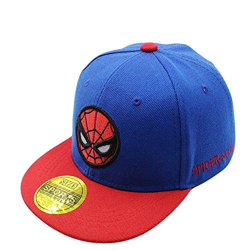 Product Image 1: Diluma Kids Spider Man Cartoon Falt Hat Snapback Baseball Cap (Blue)