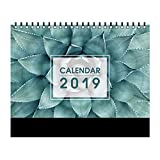 Simple 2019 Calendar Desktop Office Plan semanal Calendario Decoración DIY Calendario Home Desktop Calendar Set (Color : D)