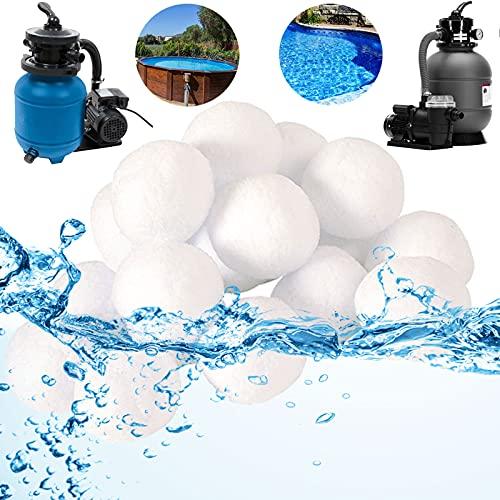 Grunda Filterballs für sandfilteranlagen, 700g filterbälle für Leistung von 25kg Filtersand, wiederverwendbar Poolreiniger sandfilteranlage für Schwimmbad, Filterpumpe, Aquarium Sandfilter