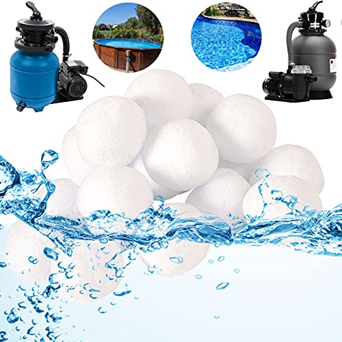 Grunda wiederverwendbar Pool Filterbälle 700g für Leistung von 25kg Filtersand, Poolreiniger Filterballs für Sandfilteranlagen, geeignet für Pool, schwimmbecken, Filterpumpe & Aquarium